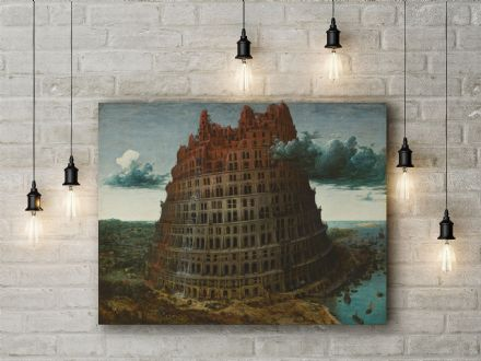 Pieter Bruegel: The Tower of Babel (2). Fine Art Canvas.